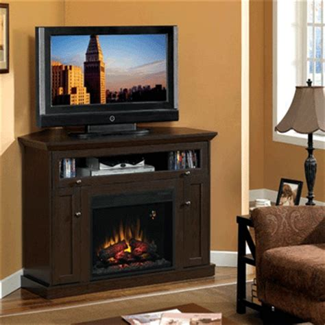 classic corner electric fireplace and tv