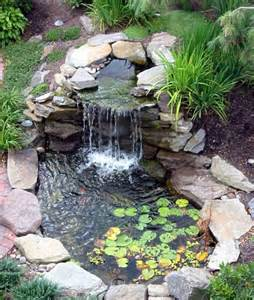 Small Garden Waterfall Ideas Best 25 Outdoor Fish Ponds Ideas On