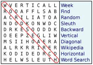 Word Sleuth Template by Word Search