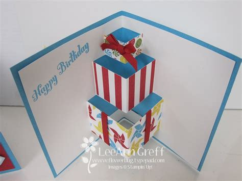 pattern pop up card birthday fun presents pop up card by flowerbugnd1 at