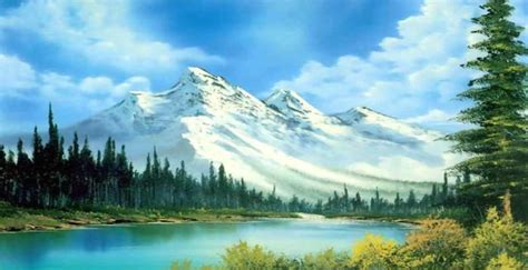bob ross painting the of writing about the of painting literary hub