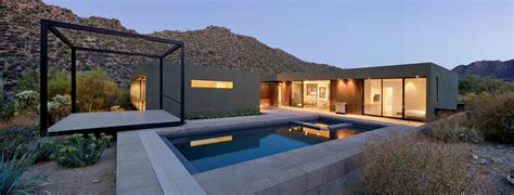 modern desert home design desert house with awesome viewing veranda next to pool