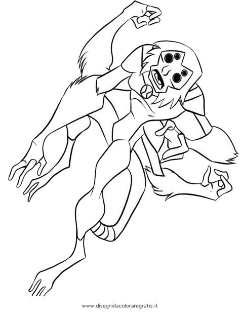ben 10 coloring pages spider monkey free ben10 spider monkey coloring pages