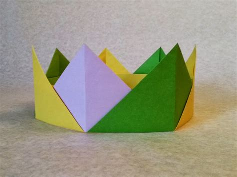 A Paper Crown - easy origami crown folding or crown paper folding step by