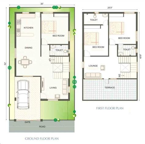 A House Plan by 2 Bedroom House Designs In India