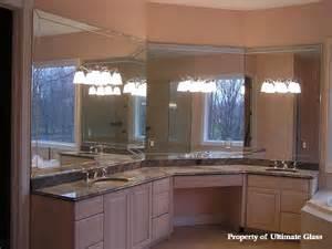bathroom mirror trim ultimate glass mirror inc specializing in custom glass work and bath enclosures since 1981