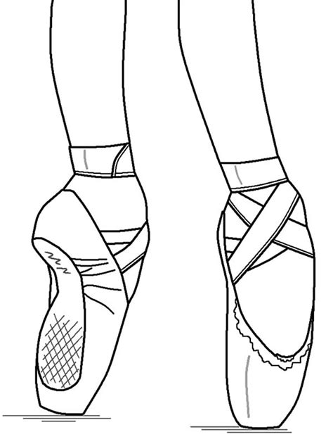 ballerina slippers coloring pages free coloring pages of ballerina slippers