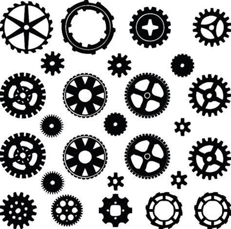Robot Wall Stickers steampunk cogs drawing go 290 wsource