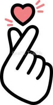 Heart Home Decor quot korean heart fingers shirt finger heart sign quot stickers by