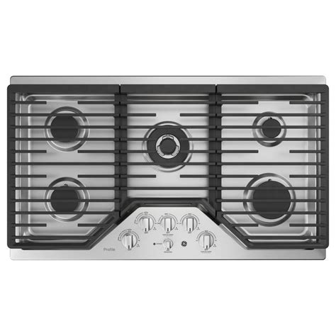 ge profile gas cooktop ge profile 36 in gas cooktop in stainless steel with 5