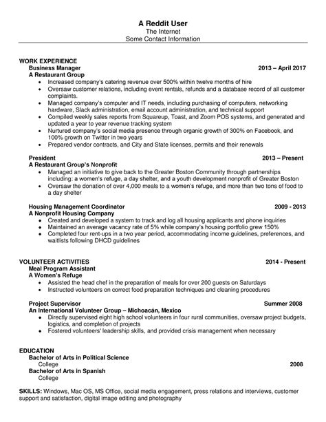 Resume Exles Reddit How To Write A Resume Reddit 28 Images Reddit Resume Pdf Docdroid Reddit Resume Pdf