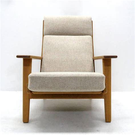 hans wegner ottoman hans j wegner ge 290 high back chair and ottoman for