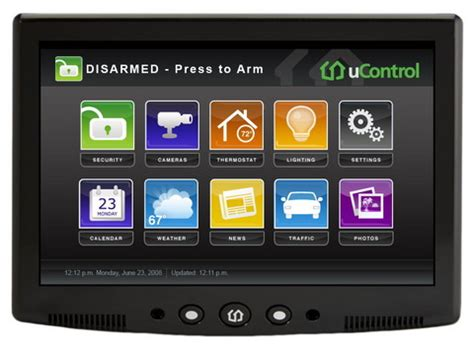 ucontrol home security system with media