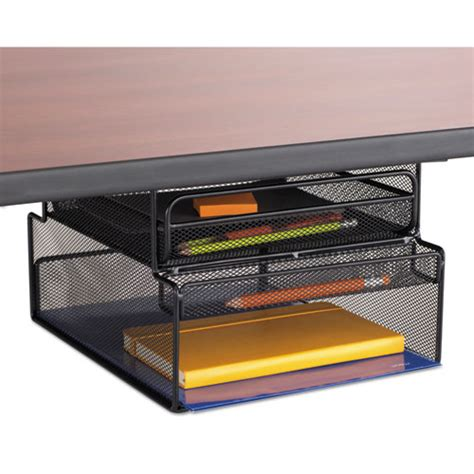 onyx hanging organizer w drawer desk mount 12 1 3