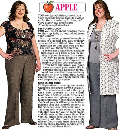 styles for apple shaped bodies trinny and susannah show off the clothes to suit their 12