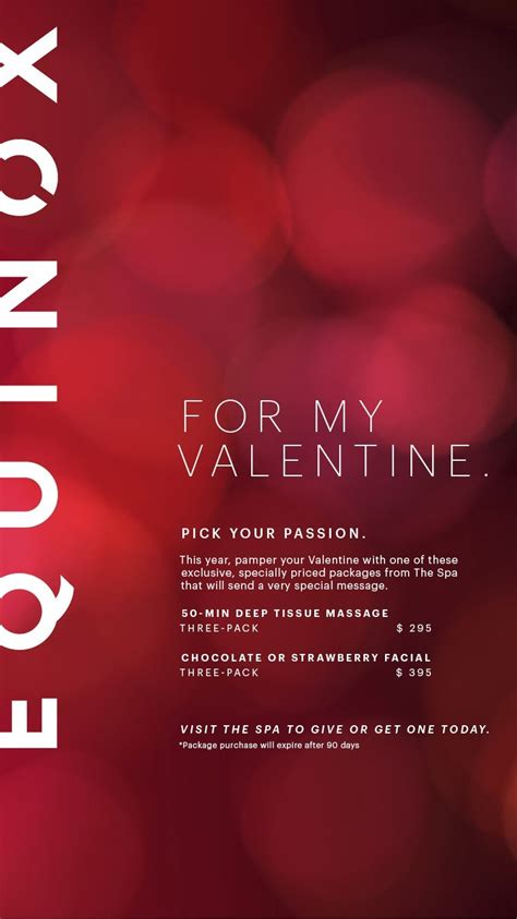 valentines packages equinox offers s day packages newton news