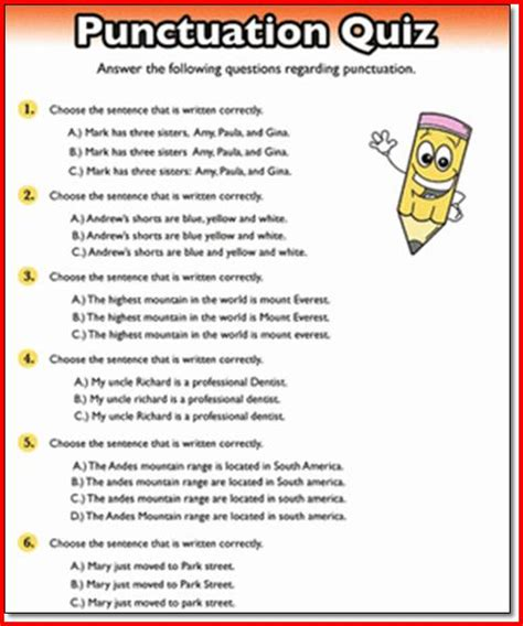 Punctuation Worksheets High School All Worksheets 187 Grammar Worksheets High School