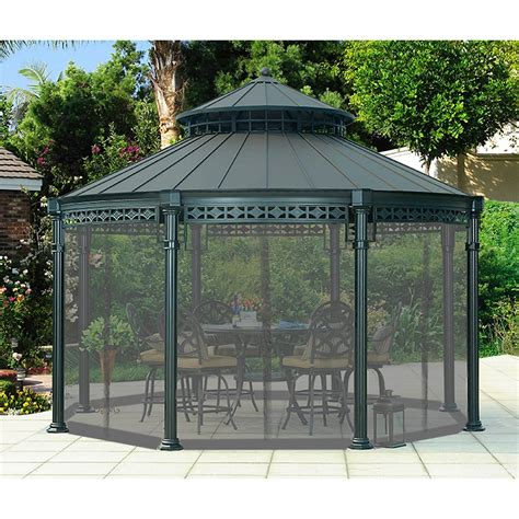 home depot gazebo sunjoy universal netting for ontario gazebo the