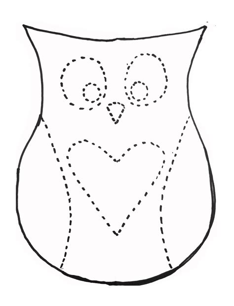 printable outline of an owl owl template beepmunk