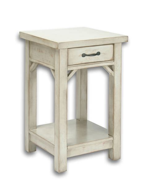 country cottage tall end table cottage home 174