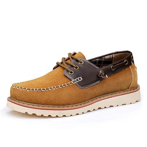dress boat shoes boat shoes men nubuck leather lace up work shoes mens
