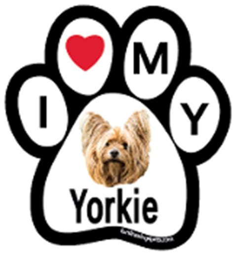 yorkie paw print f4p i my breed bone paw magnets