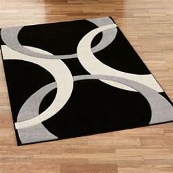 Modern Area Rug Corfu Contemporary Black Area Rugs