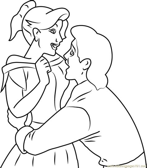 Gaston And Anastasia In Love Coloring Page Free Gaston Coloring Pages