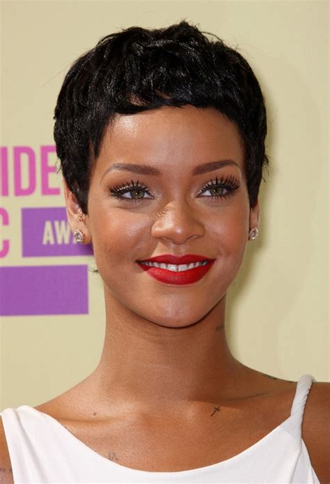 black weave boycut rihanna hairstyles celebrity latest hairstyles 2016