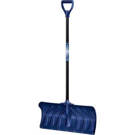 true temper 24 in poly snow shovel 1603500 at the home depot
