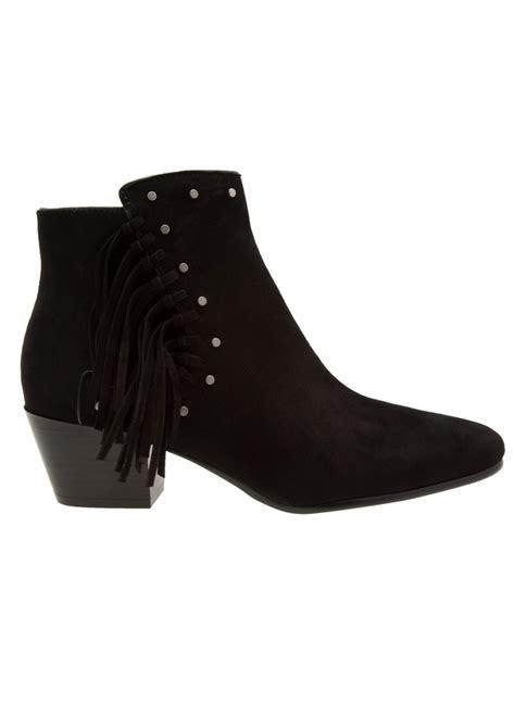 sam edelman rudie suede fringe boots black