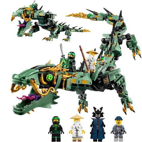 Brick Lepin 06051 Ninjago Green Mech 592pcs get cheap green ninjago aliexpress