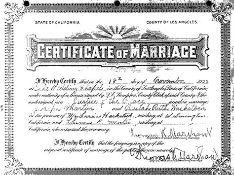 Wedding Certificate California Printable Birthday Certificates California Marriage Certificate Template