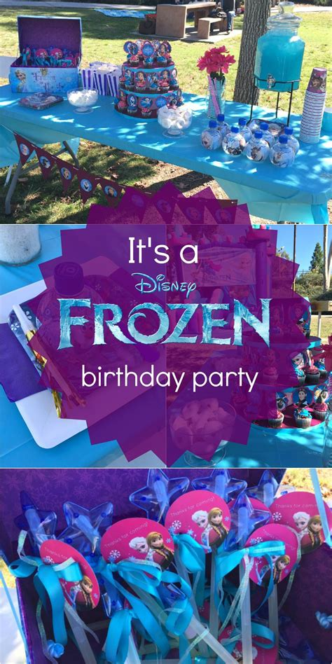 disney s frozen birthday ideas pink purple blue