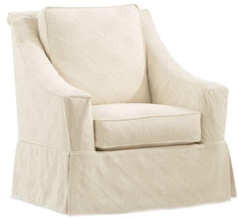 Audrey Slipcovered Swivel Glider Chair Rosenberryrooms Com