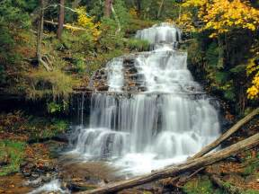 Waterfalls In Mountains Waterfalls Mountains Waterfalls Wallpaper