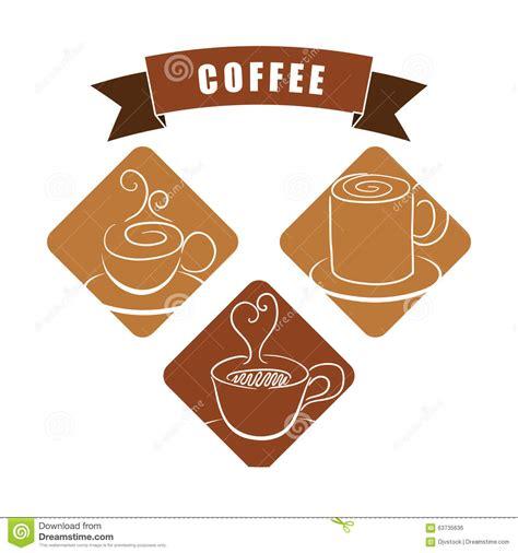 coffee shop graphic design coffee icons design stock illustration image 63735636