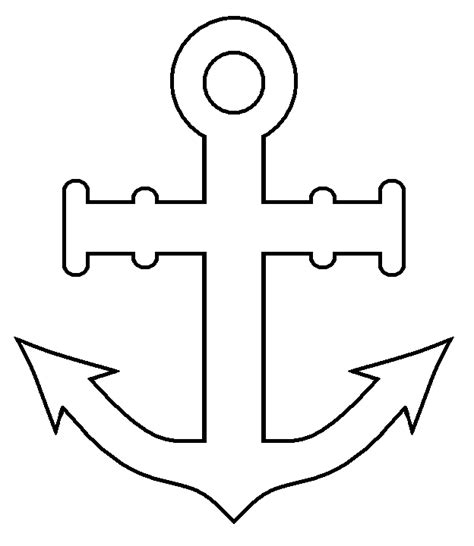 symbol templates anchor printable pattern clipart best