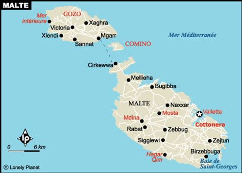0004490487 carte touristique malta and carte malte plan des sites incontournables lonely planet
