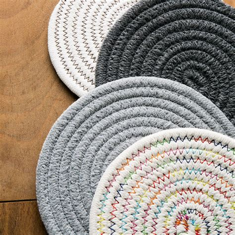 Braided Rug Coasters by Braided Rug Coaster Apollobox