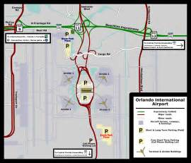Map Of Orlando Airport by Orlando International Airport Rental Car Map Flight Info