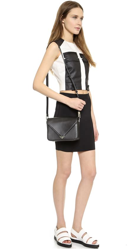 Sling Bag Envelope Black wang prisma envelope small sling bag black in