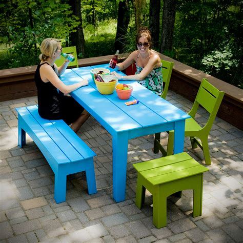 """62"""" Modern Outdoor Dining Table   Loll Designs"""