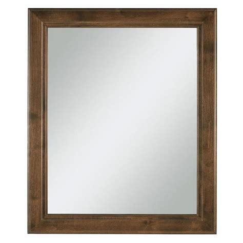 Framed Mirror In Bathroom Shop Freshfit Webster 30 In X 34 In Mink Espresso Rectangular Framed Bathroom Mirror At