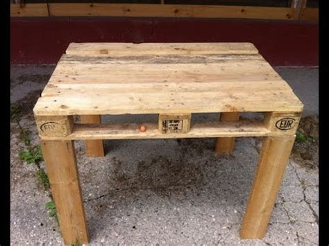 pallet table easy to make diy