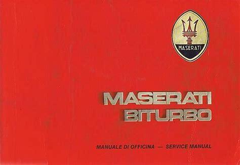 Maserati Biturbo Service Manual 1984 The Art Of