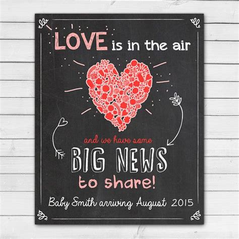 valentines pregnancy announcements s day pregnancy announcement by