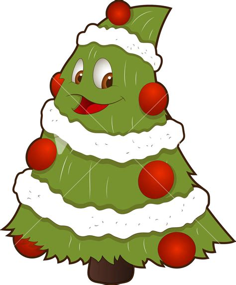 christmas tree clipart character pencil and in color