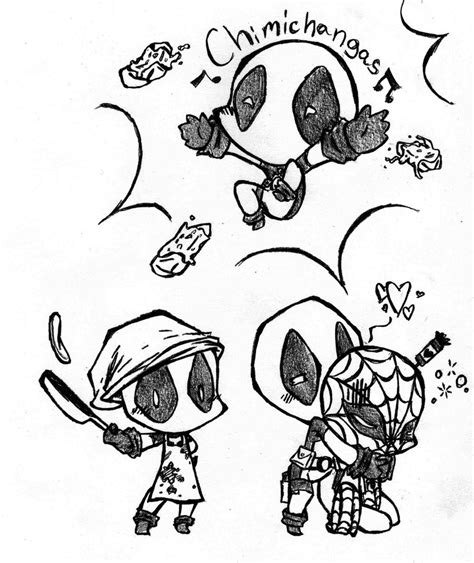 coloring pages chibi deadpool