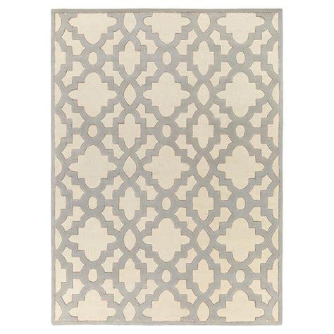 trellis wool rug florian regency ivory medallion trellis wool rug 8x11 kathy kuo home